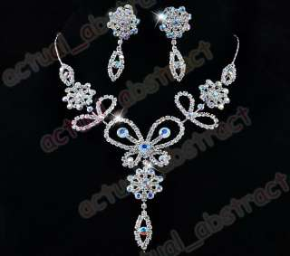butterfly necklace earring 1SET for bridal