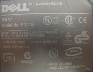 DELL P1516 EXTERNAL MEDIA BAY HOUSING DRIVE W/CD RW/DVD