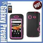 BLK PINK IMPACT HARD COVER CASE SAMSUNG GALAXY PREVAIL PRECEDENT PHONE