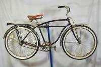 Schwinn Hornet balloon tire bicycle rat rod black bike spitfire