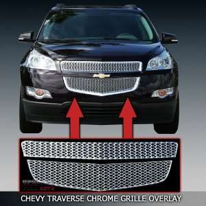 2009 2012 Chevy Traverse Chrome Grille Overlay Automotive
