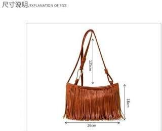 PU leather fringe small handbags girl bag purses handbag shoulder bag