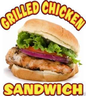 Grilled Chicken Sandwich Concession Decal 12 Food Menu