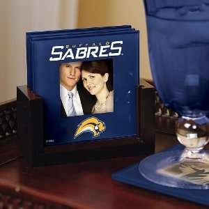 Memory Company Buffalo Sabres Art Glass Coaster Set