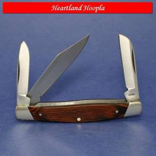 Buck Three Blade Stockman Knife With Wood Handles   BU371