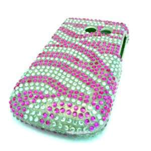 Samsung R375c Straight Talk Pink Zebra Bling Jewel Diamond