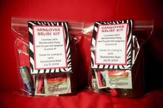 Zebra Invitations Favor Tags Games Water Candy Wrapper Label