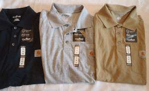 CARHARTT MENS ANTI ODOR WORK POCKET POLO SHIRT TOP NWT