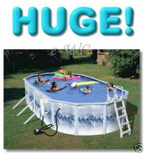30ft x 15ft Oval Above Ground 52H Swimming Pool + Pump