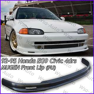 92 95 Honda Civic JDM MUGEN Front Bumper Lip Kit Sedan 4Drs EG9 PU