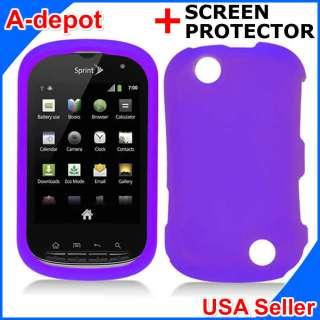 Kyocera Milano C5120 Sprint Purple Rubberized Hard Case Cover +Screen