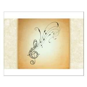 Small Poster Treble Clef Music Notes