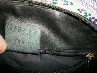 Longchamp Black Organizer Leather shoulder bag purse