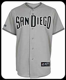 San Diego Padres road MLB Majestic replica jersey sizes S M L XL & 2XL