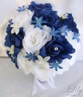 17pcs Wedding Bridal Bride Bouquet Flowers Decorations Package ROYAL