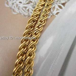Gold Filled Men Rope Necklace Chain 20 Twist Link Chain 3mm Jewelry