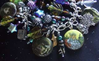 GYPSY FORTUNE TELLERS CHARM BRACELET Ouija Board, Crystal Ball, Tarot