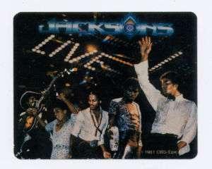 1981 CBS Epic JACKSONS Live Sticker Michael Jackson 5