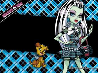 Monster High edible cake image 1/4 sheet