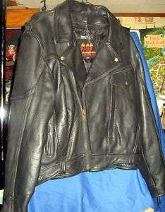 Mens HVY Leather Motorcycle Jacket SZ 48 Thinsulate