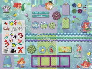 DISNEY PRINCESS ARIEL~CD* DIGITAL SCRAPBOOKING KIT~**CD