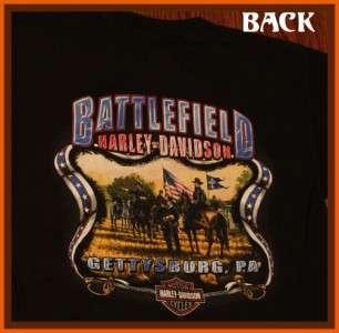 Battlefield Harley Davidson Gettysburg, PA T Shirt M