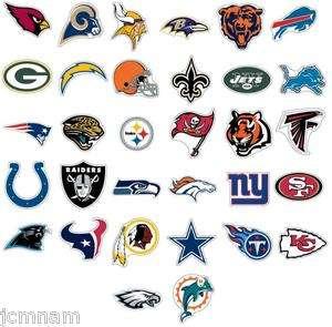 NFL STICKERS 32 FOOTBALL TEAM LOGO JUMBO DECALS NEW HOT