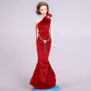 New fashion evening dress clothes party gown outfit for barbie doll