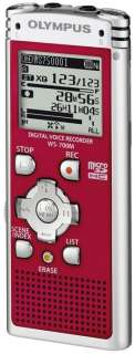 Olympus WS 700M Digital Voice Recorder 140152(RED)