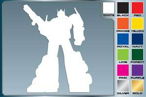 OPTIMUS PRIME Silhouette cut vinyl decal Transformers