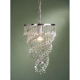 NEW 1 Light Mini Pendant Lighting Fixture, Satin Nickel with Clear