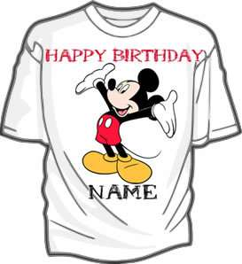 Mickey Mouse Personalized Party Favor Kids T Shirt