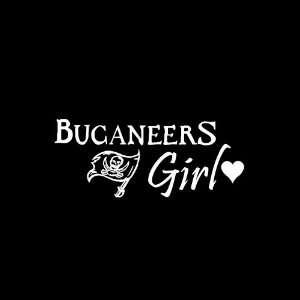 Tampa Bay Bucaneers Girl Car Window Decal Sticker White 8