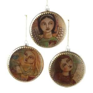 Club Pack of 12 Angel Decoupage Bubble Christmas Ornaments