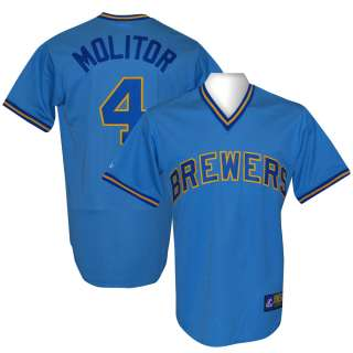 BREWERS Paul Molitor Cooperstown Throwback Jersey XL