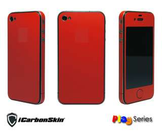 iPhone 4 MATTE RED FULL BODY VINYL SKIN 3M Di Noc