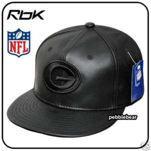 NEW NFL GREEN BAY PACKERS LEATHER CAP HAT 7 1/4   7 3/8