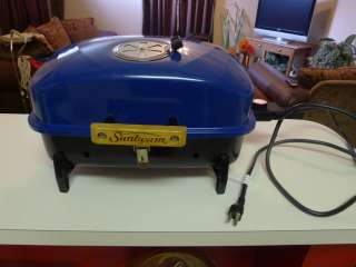 Sunbeam Electric Outdoor Grill Blue Tabletop Portable Camping