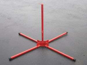 HEAVY DUTY RED FOLDING PORTABLE MOBILE SIGN POST STAND