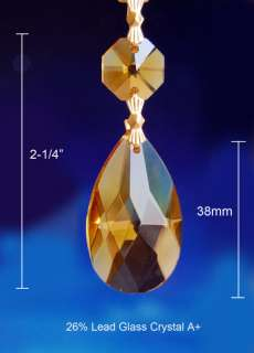 AMBER CRYSTAL ANGEL TEAR CHANDELIER PRISMS PENDANTS