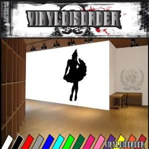 Western Saloon Girl NS001 Vinyl Decal Wall Art Sticker