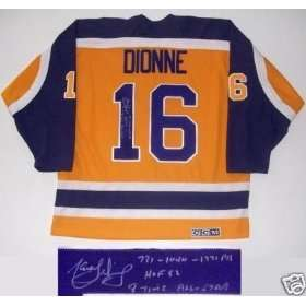 Marcel Dionne Autographed Jersey   Inscribed: Sports