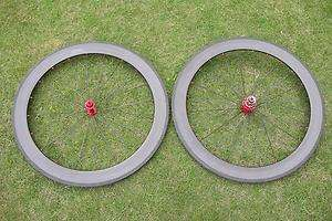 , 700C 60mm clincher carbon fiber wheelset for road bike Powerway hub