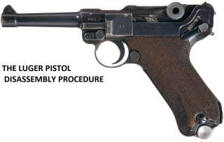 THE LUGER PISTOL TAKEDOWN/ DISASSEMBLY PROCEDURE ON CD
