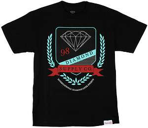 Diamond Supply Co. Diamond Society T Shirt   Black   FREE SHIPPING