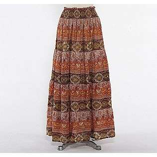 Print Long Tiered Skirt  Star of India Clothing Juniors Skirts