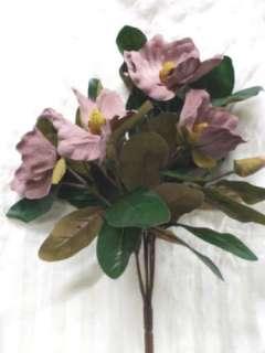 Mauve Pink Magnolia Silk Flower Flowers Bush F727