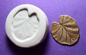 LOTUS POND LILY FROGS LEAF ~ CNS polymer clay mold |