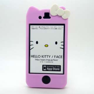 Hello KITTY CUTE Bow W/ear Character Hard Case Cover Sprint Verizon