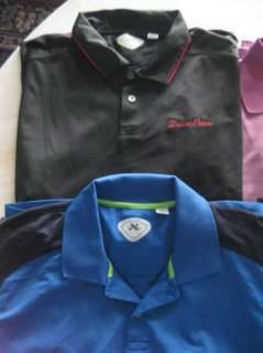mens LOT of 8 FOOT JOY CALLAWAY SLAZENGER golf polo shirts XXL